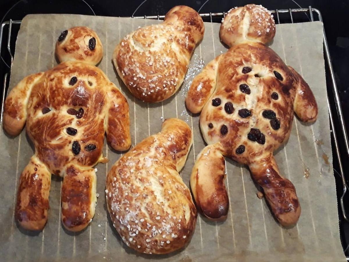Weckmänner gebacken